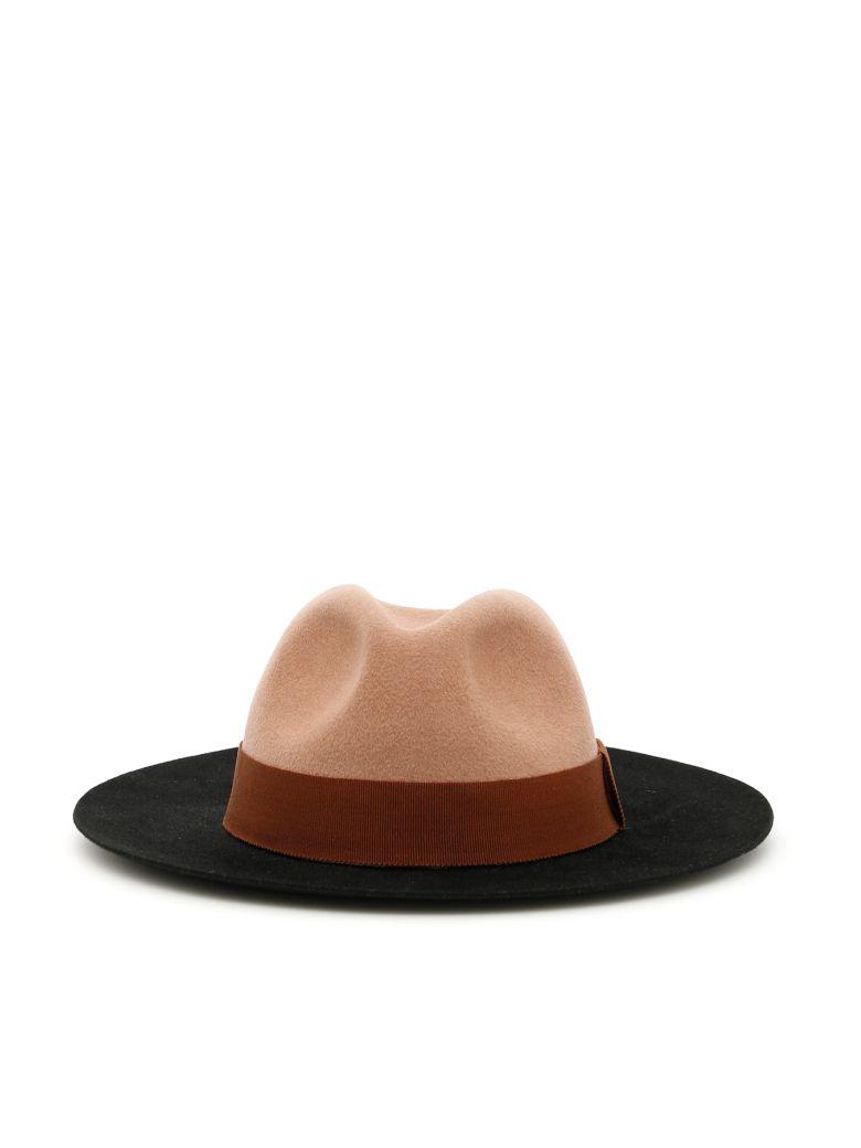 Ruslan Baginskiy Felt Hat - BLACK/BEIGE|Nero