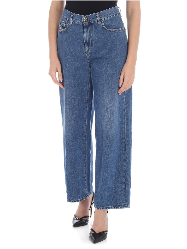 Diesel Wide Leg Jeans - Blue