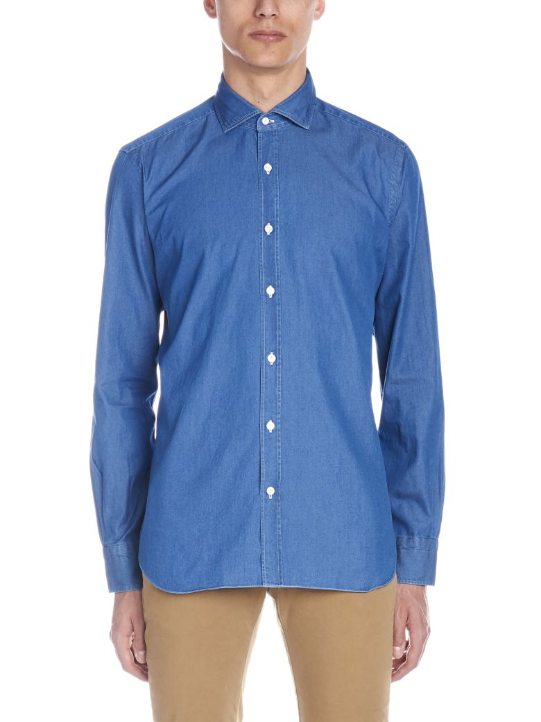 Barba Napoli 'dandy Life' Shirt - Blue