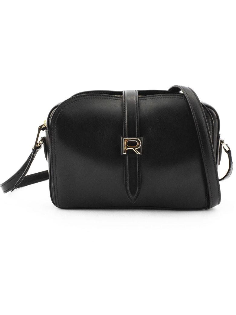 Rochas Black Leather Mini Bag - Nero