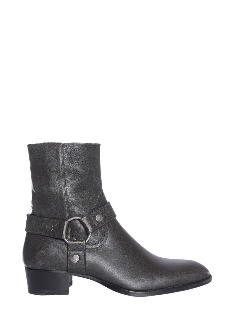 Saint Laurent Leather Boot - NERO