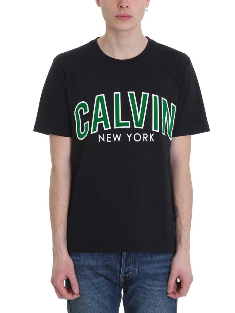 Calvin Klein Jeans Black Cotton T-shirt - black