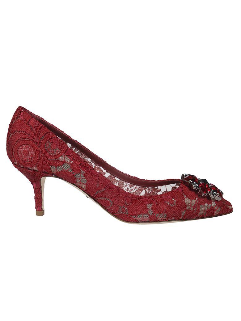 Dolce & Gabbana Laced Bellucci Pumps - red