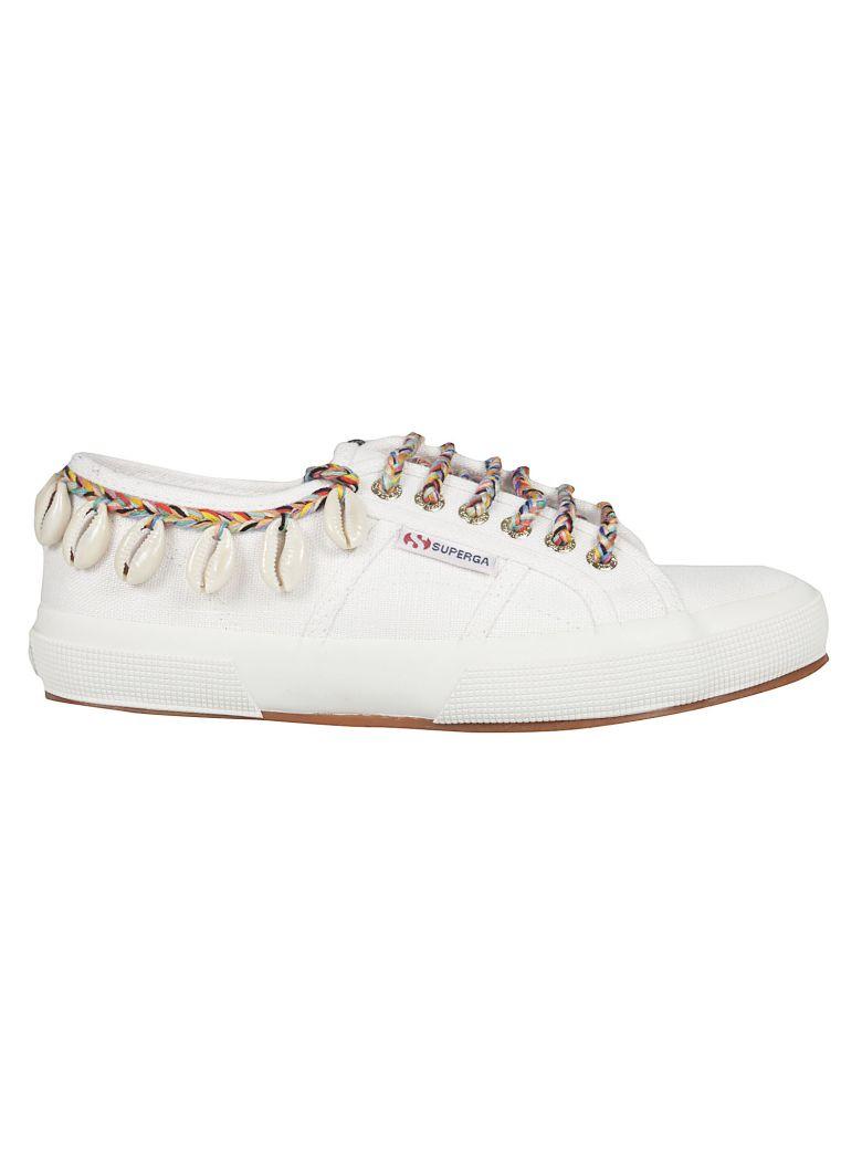 Alanui Alanui Cow-rie Shell Sneakers - White Multi