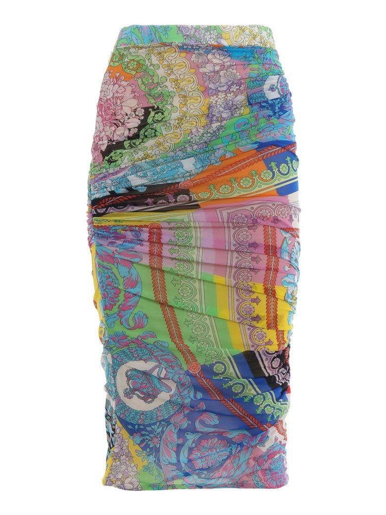 Versace Mixed Print Pencil Skirt - Multicolor