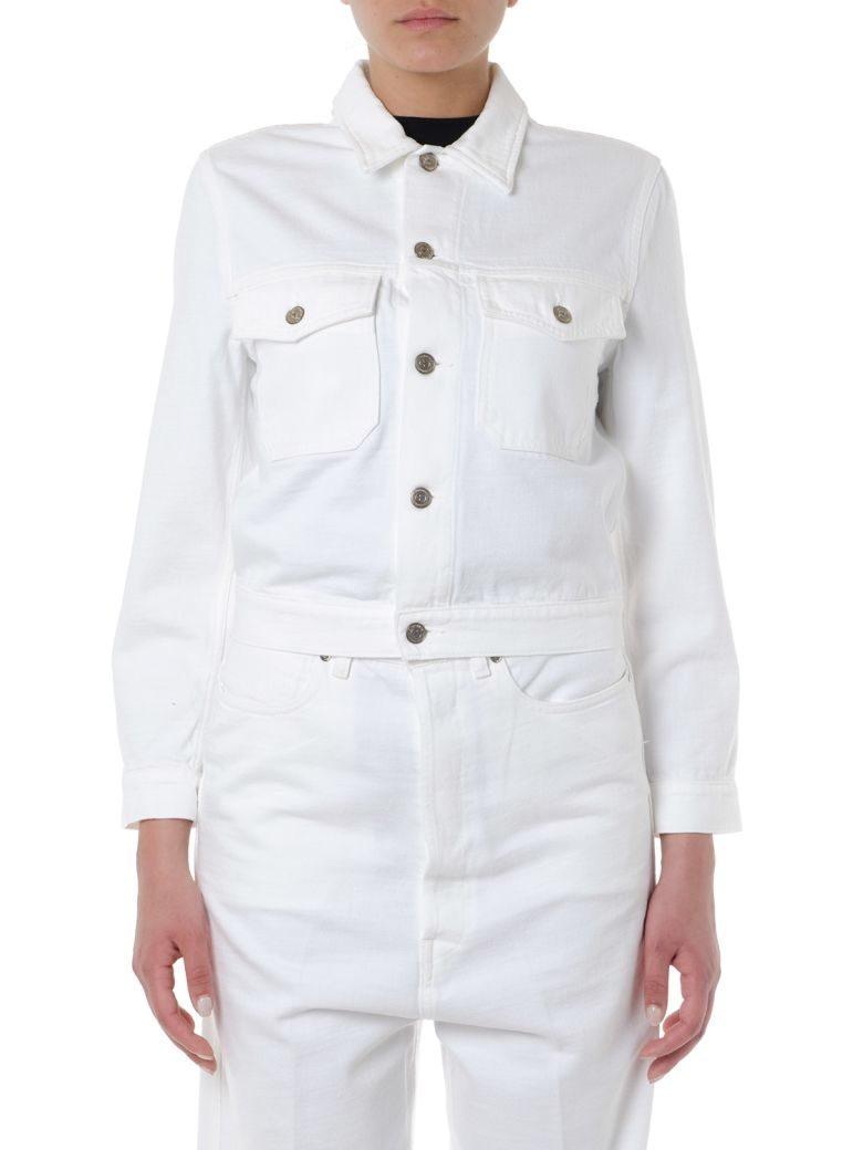 Golden Goose White Short Denim Jacket - White