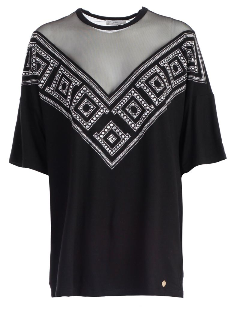 Versace Collection Embellished Blouse - Nero