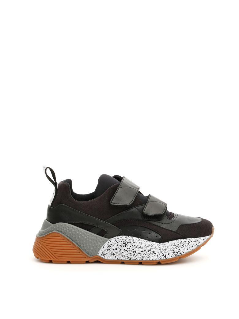 Stella McCartney Velcro Strap Eclypse Sneakers - BLK BLK BLK BK W G B (Black)