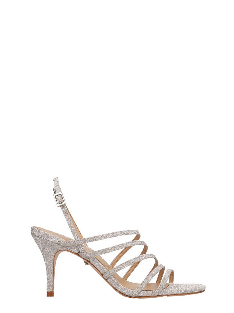 Schutz Silver Glitter Sandals - silver
