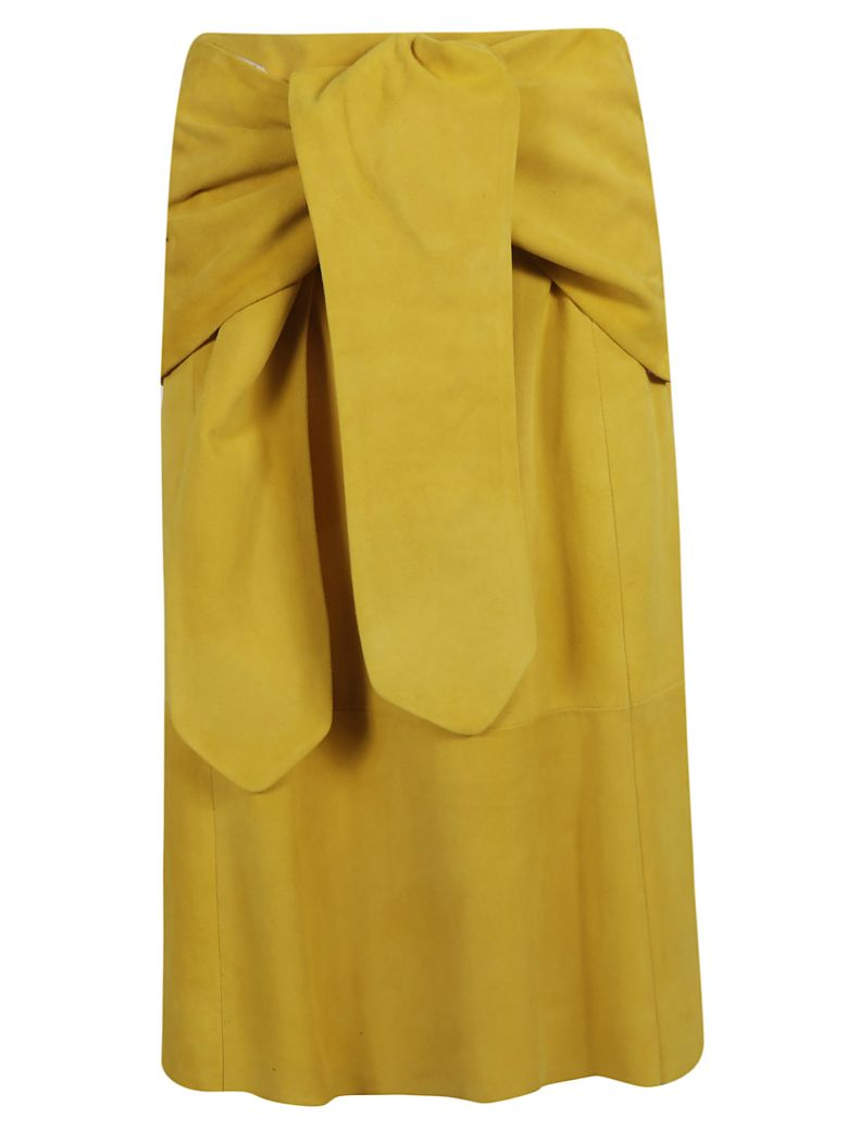 DROMe Leather Skirt - Yellow