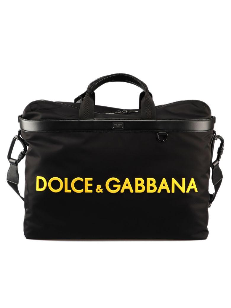 Dolce & Gabbana Mediterrane Duffle Bag - Black/yellow