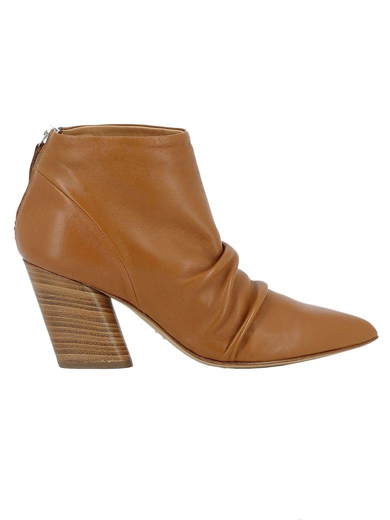 Halmanera Caramel Leather Ankle Boots - BROWN