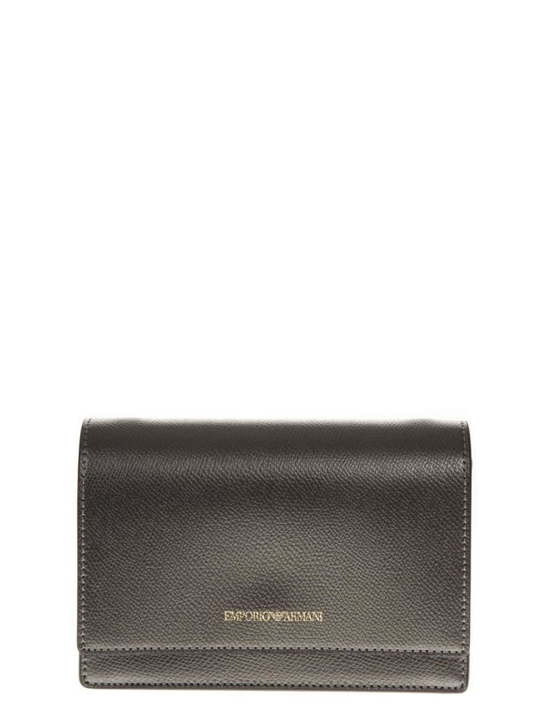 Emporio Armani Steel Color Faux Leather Mini Bag - Steel