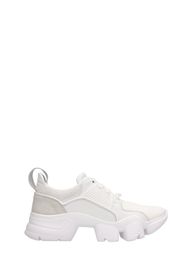 Givenchy White Fabric Jaw Low Sneakers - white