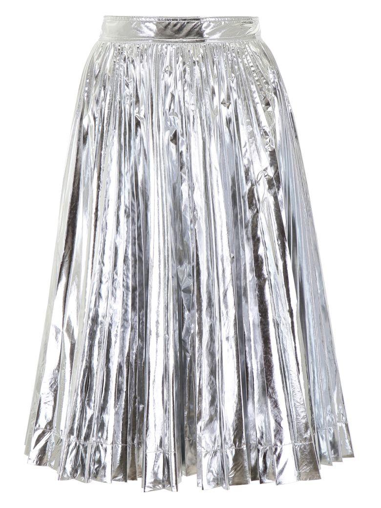 Calvin Klein Metallic Pleated Skirt - SILVER (Silver)