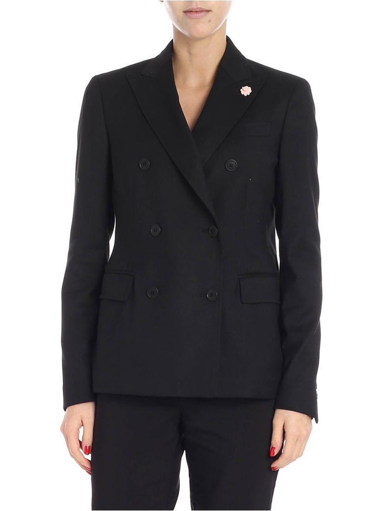 Lardini Double Breasted Blazer - Nero