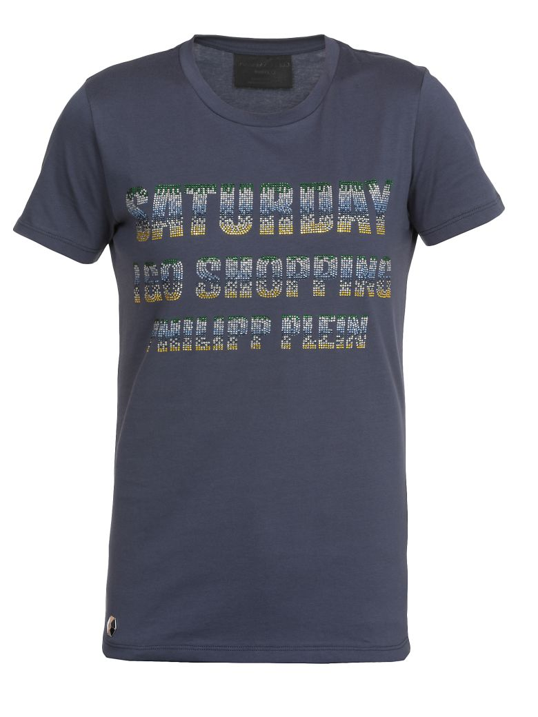 Philipp Plein T Shirt With Sequins - NAVY