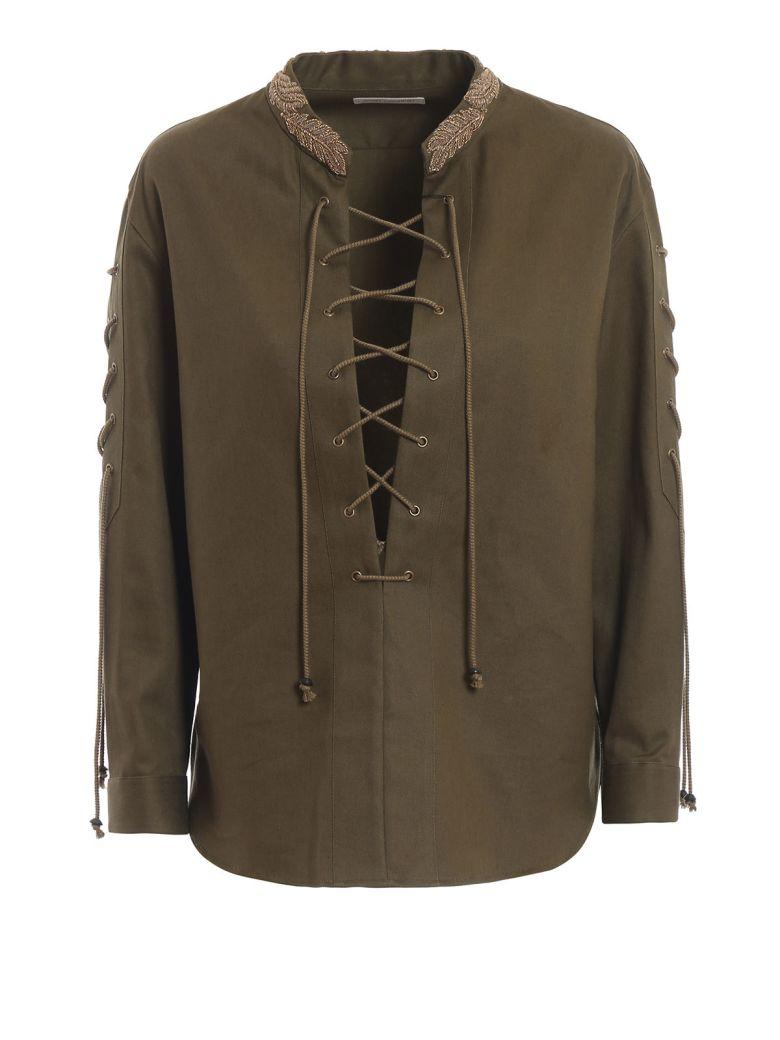 Saint Laurent Gabardine Shirt - Kaki