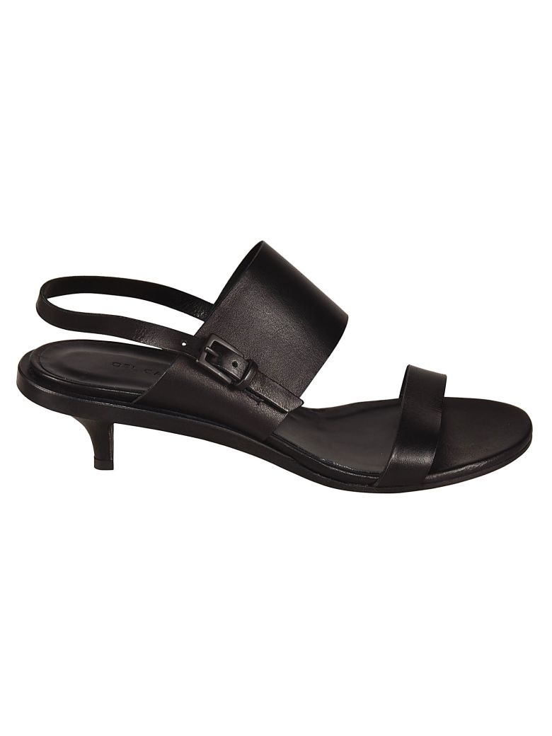 Roberto del Carlo Low Heel Ankle Strapped Sandals - Black