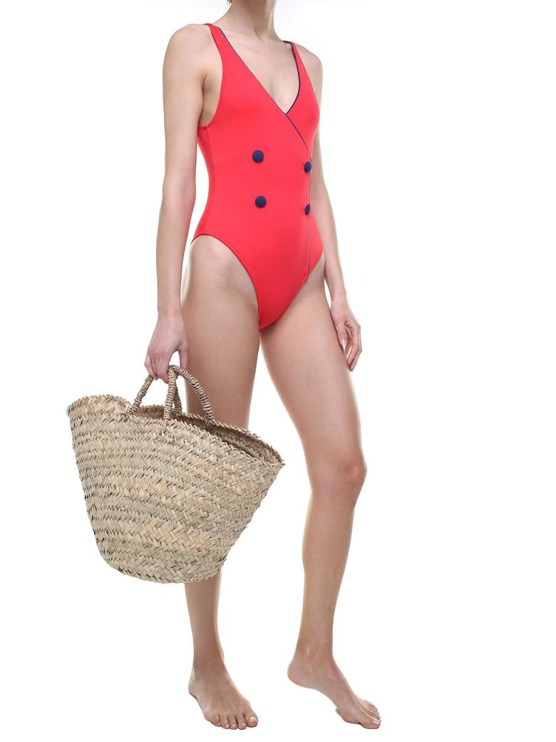 Solid & Striped The Juliette Tuxedo-style Swimsuit - Red