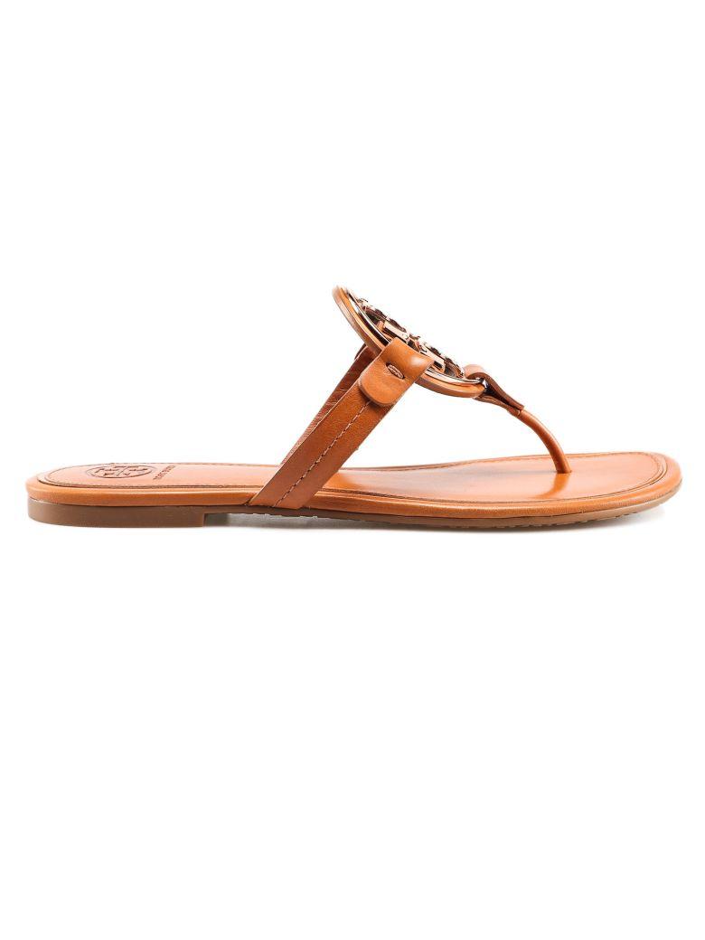 Tory Burch Liana Flat Sandals - Tan/rose Gold