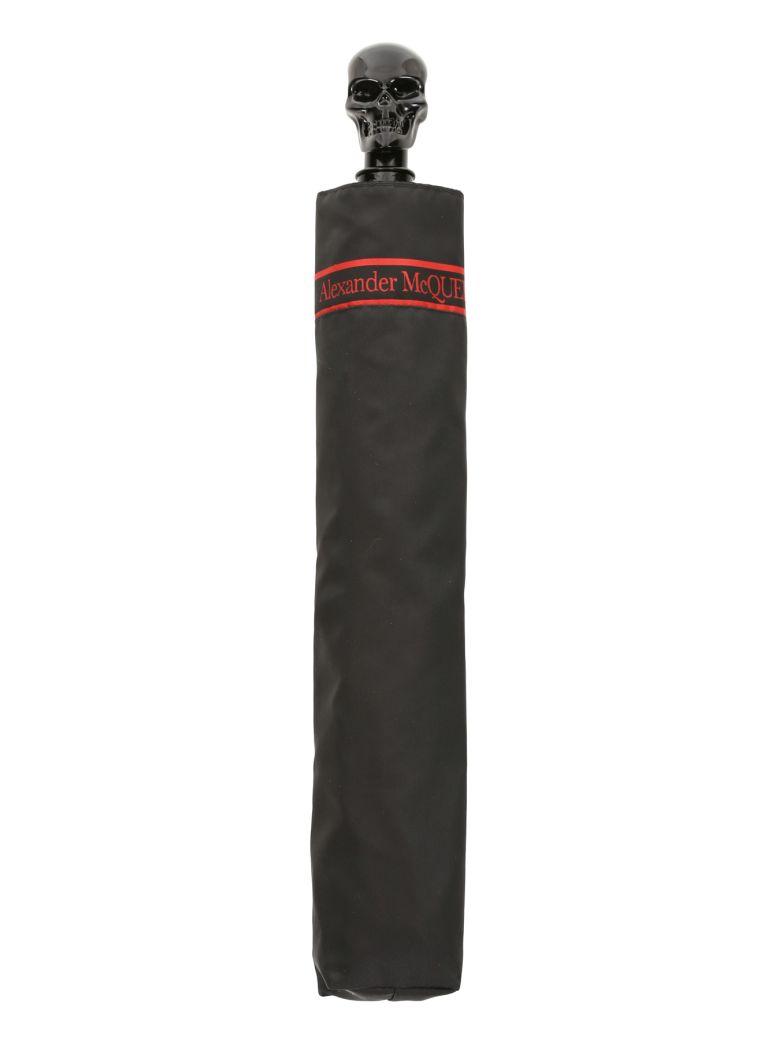 Alexander McQueen Skull Umbrella - BLACK RED (Black)