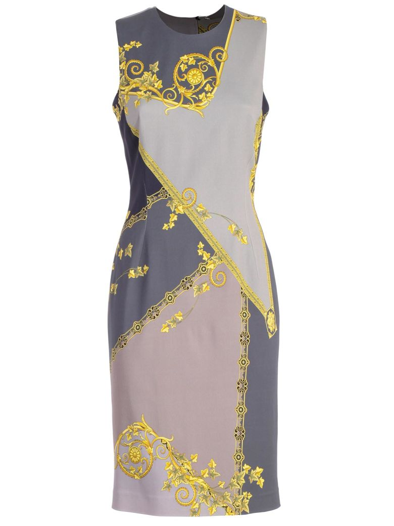 Versace Collection Fitted Printed Dress - Grigio St
