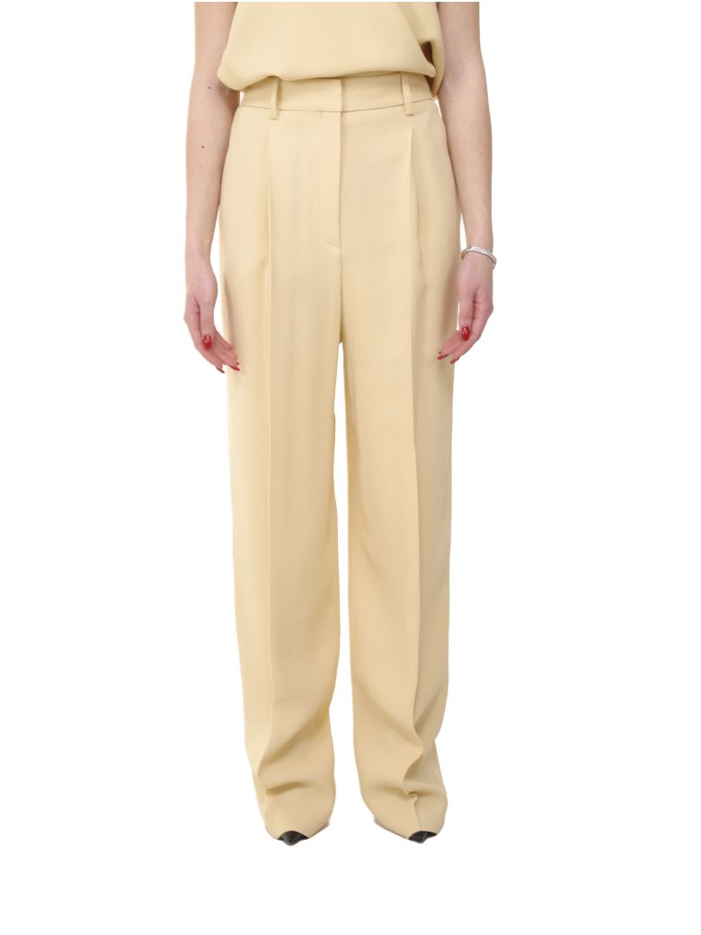 Theory Pale Yellow Trousers - Yellow