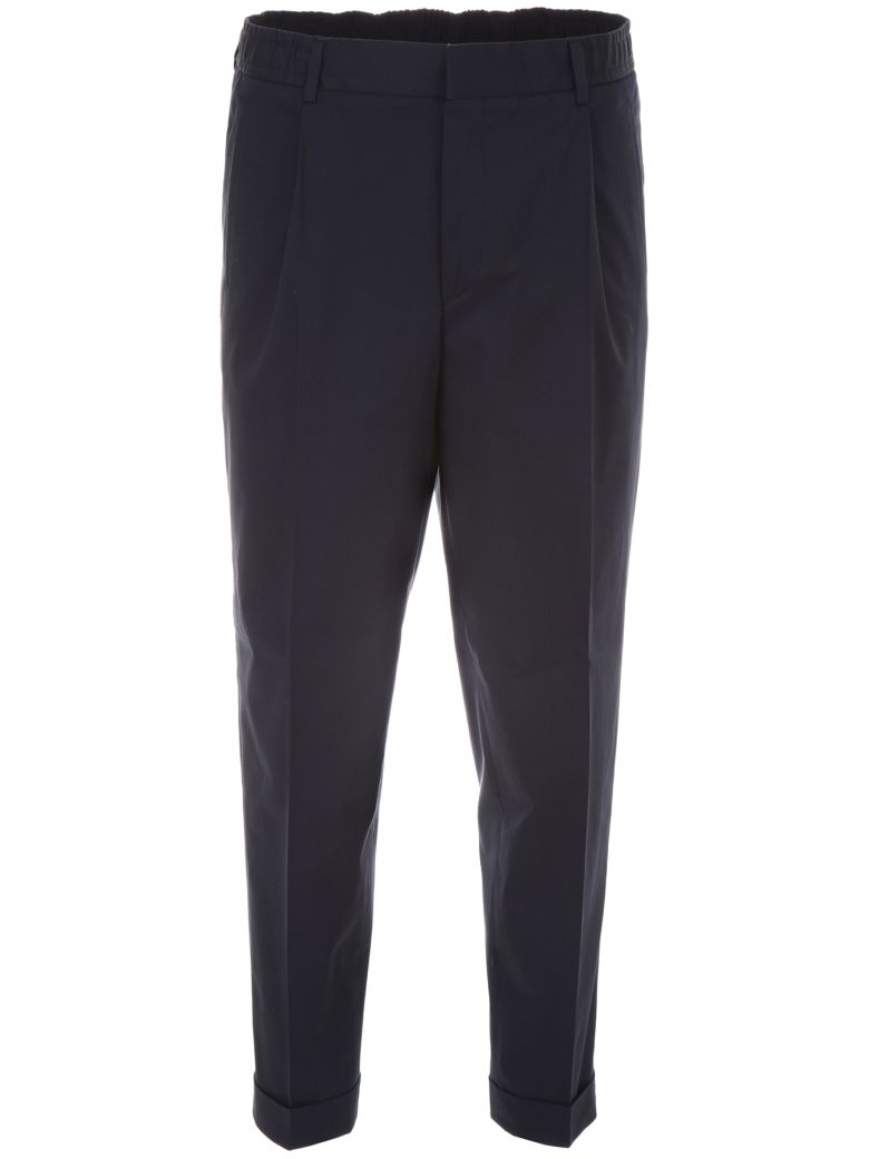 CC Collection Corneliani Trousers With Drawstring - BLU NAVY|Blu