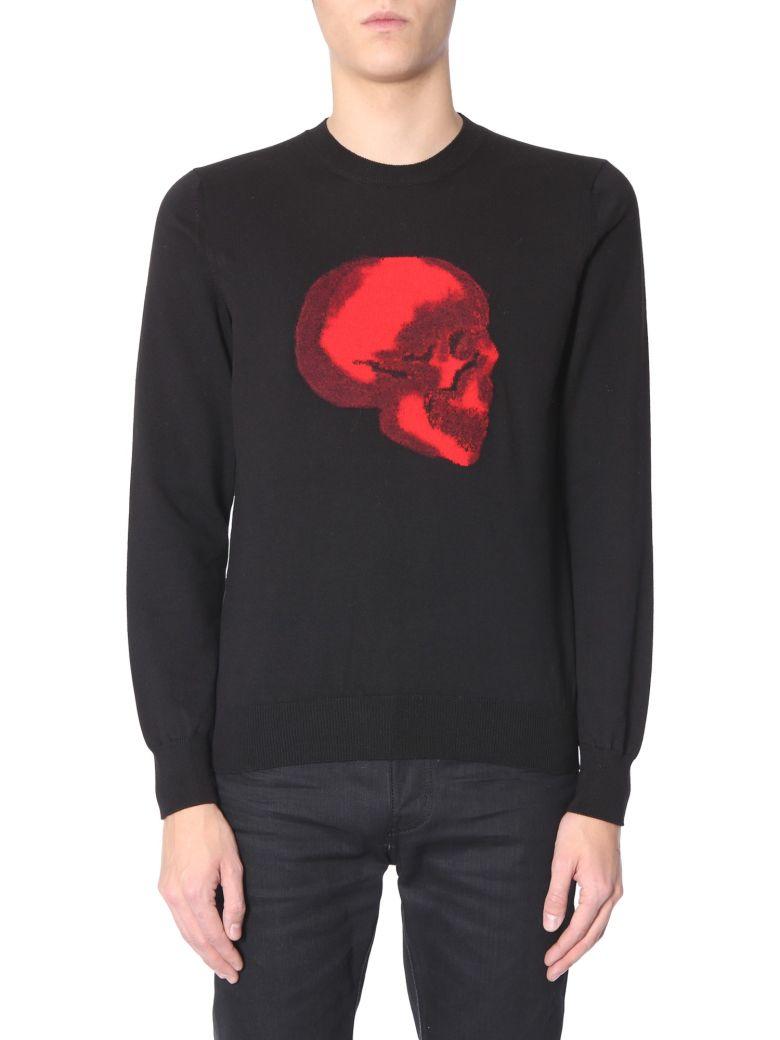 Alexander McQueen Sweater With Skull - NERO