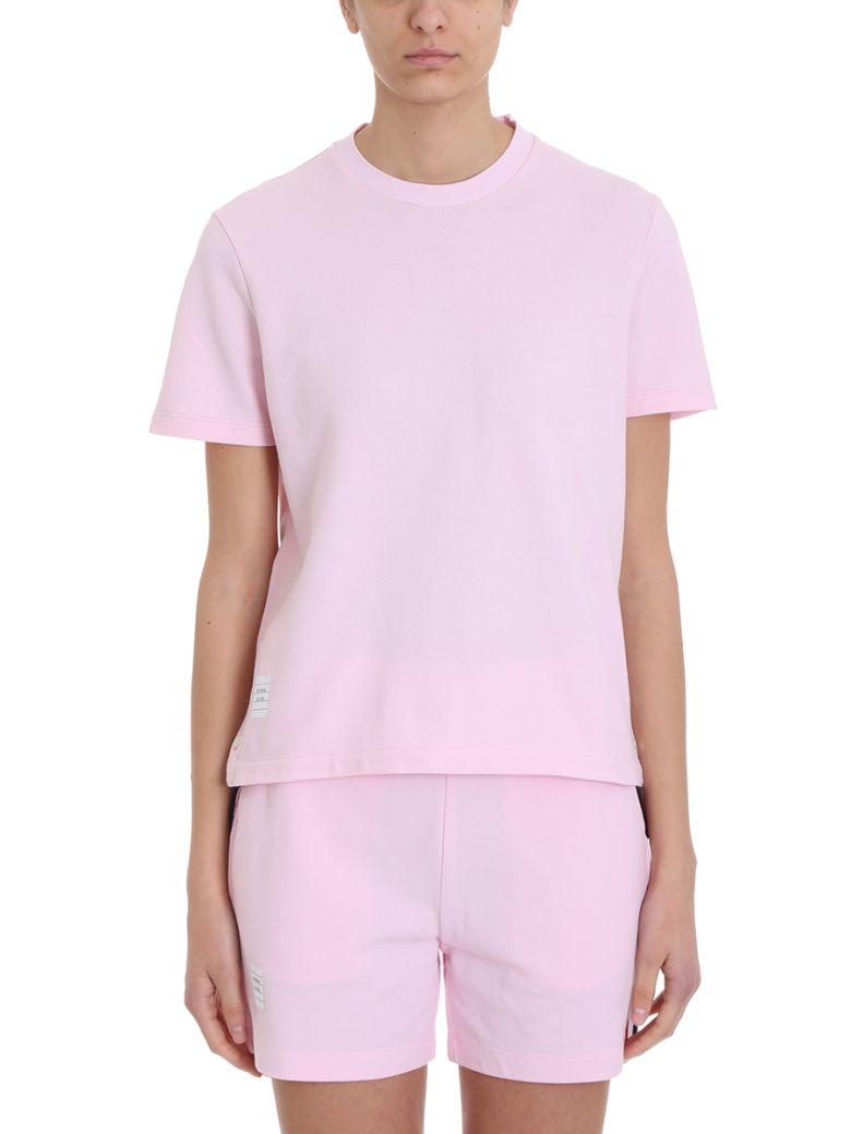 Thom Browne Rwb Pink Piqu? T-shirt - rose-pink