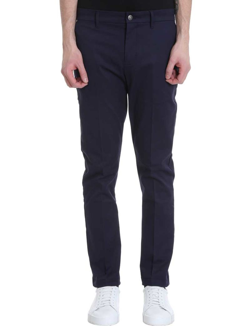 Calvin Klein Jeans Blue Cotton Pants - blue