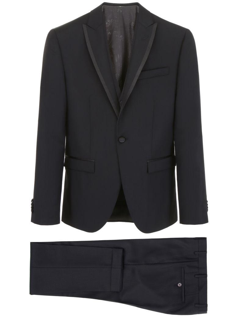 CC Collection Corneliani Three-piece Suit - V.ABBINATA|Nero