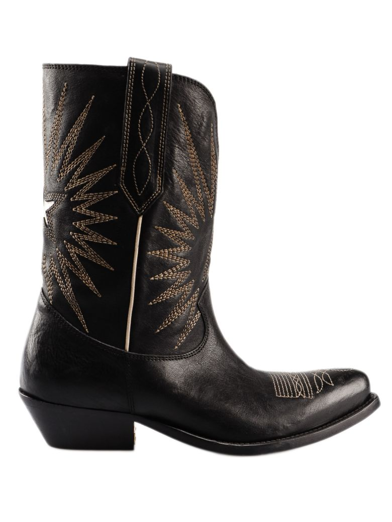 Golden Goose Star Cowboy Boots - Black