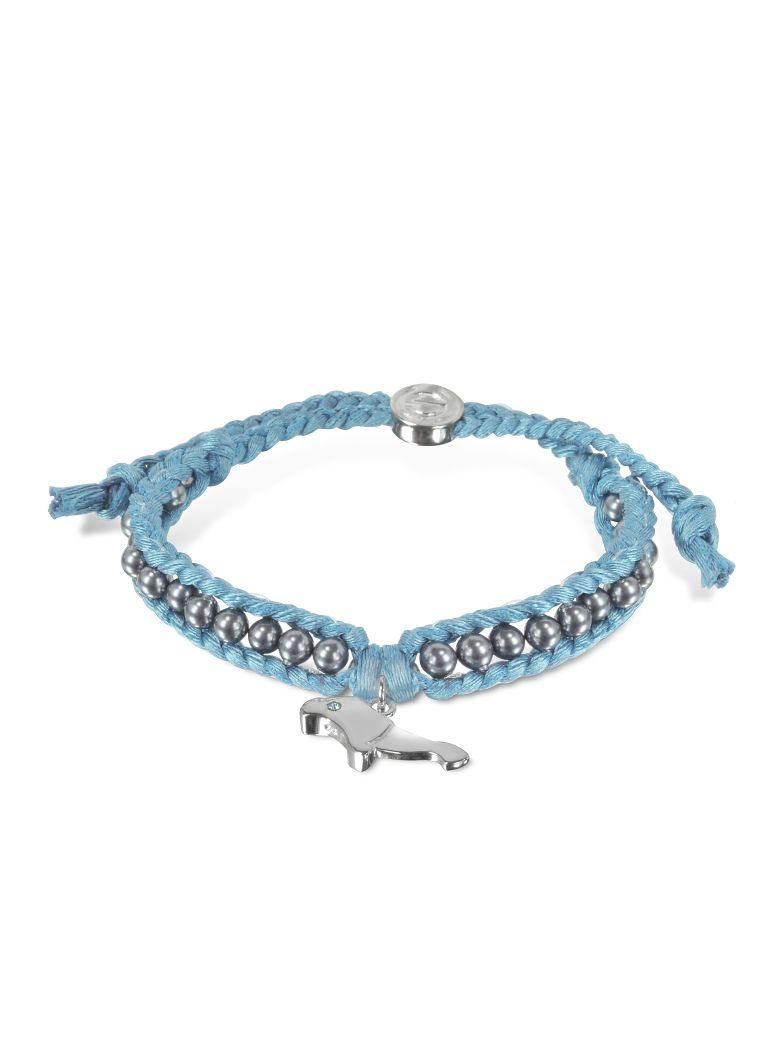 Sho London Manatee Friendship Silk Bracelet - Light Blue