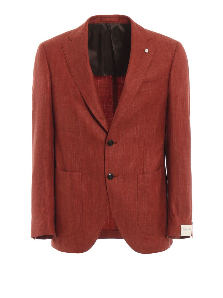 Luigi Bianchi Mantova Summertime Blazer - Orange