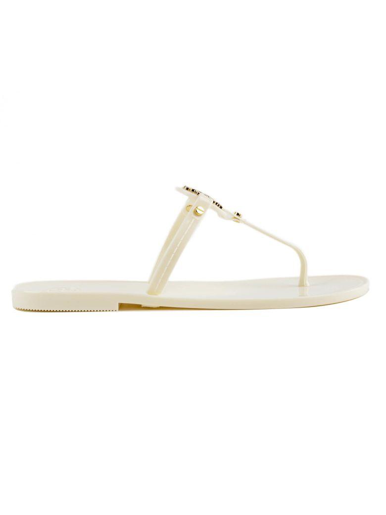 Tory Burch T-bar Flat Sandals - Ivory