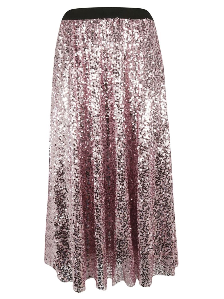 In The Mood For Love Sequined Skirt - Bubble gum