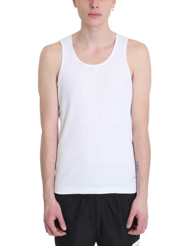 Calvin Klein Jeans White Cotton Tank Top - white