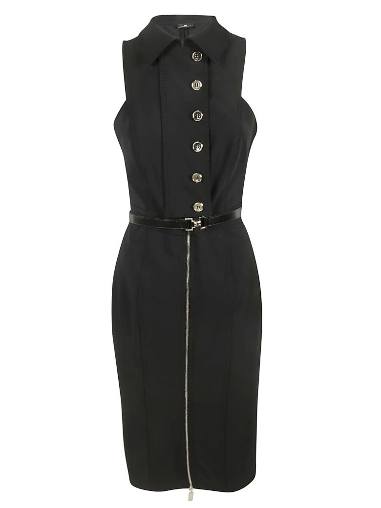 Elisabetta Franchi Celyn B. Belted Waist Dress - BLACK