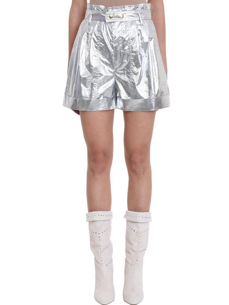 Isabel Marant Tweni Metallic Effect Cotton Shorts - silver