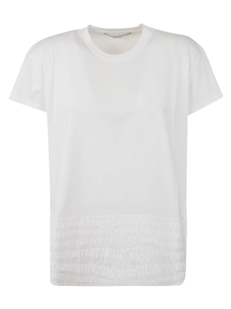 Stella McCartney Ruffled Trim T-shirt - White