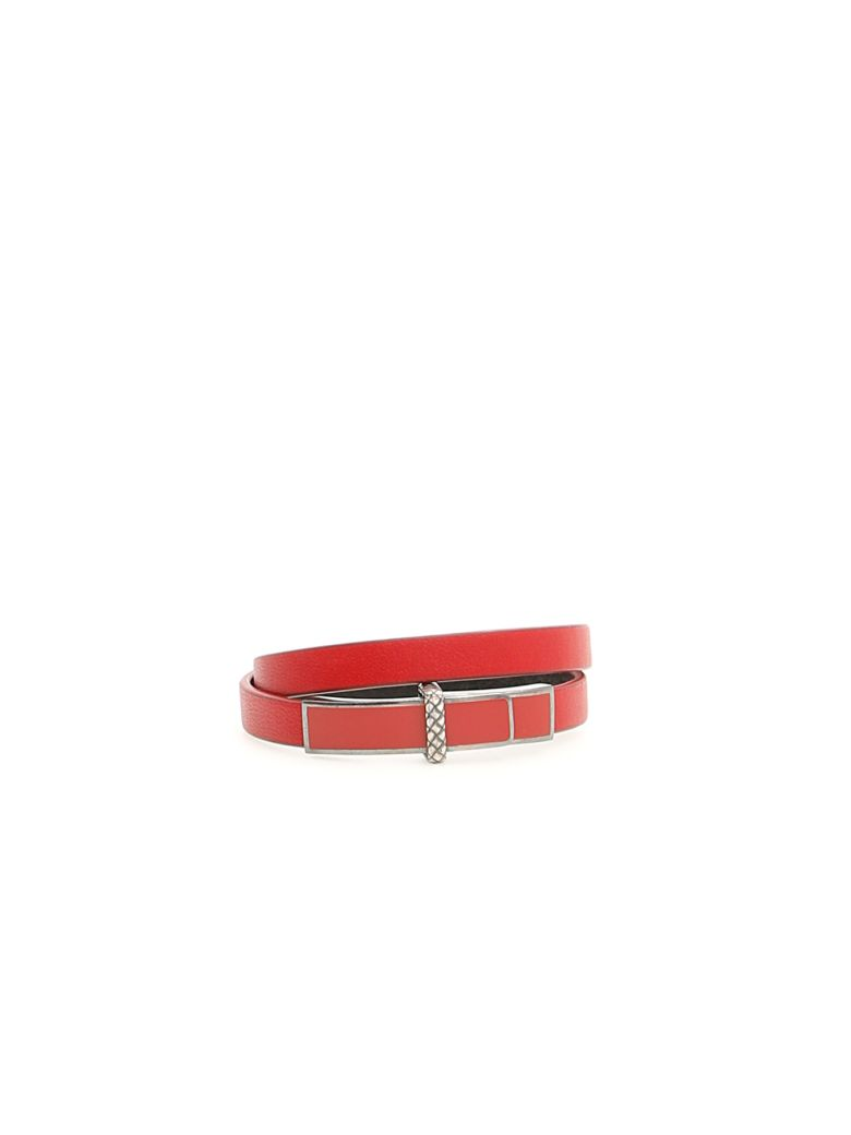 Bottega Veneta Leather Bracelet - CHINA RED CHINA RED NE (Red)