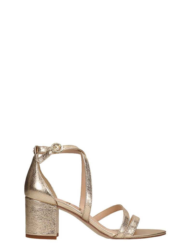 Sam Edelman Gold Leather Sandals - Gold