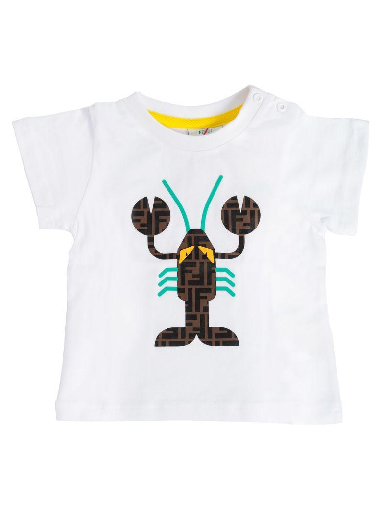 Fendi Kids Double F Lobster Print T-shirt