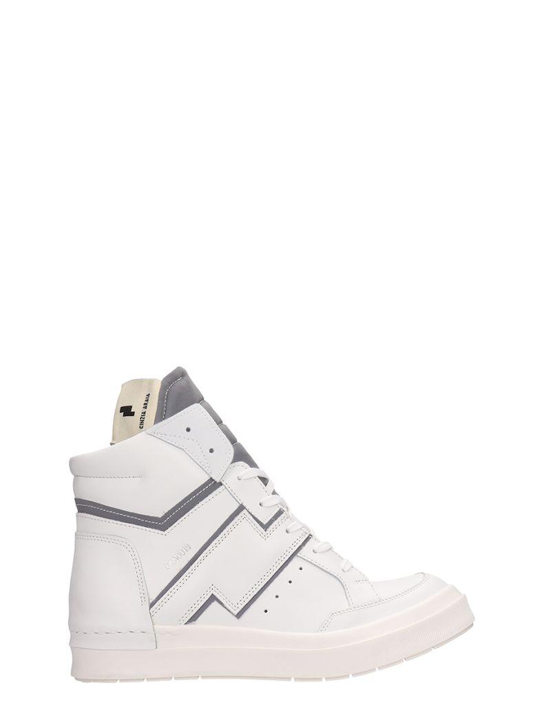 Cinzia Araia White Leather High-top Sneakers - white
