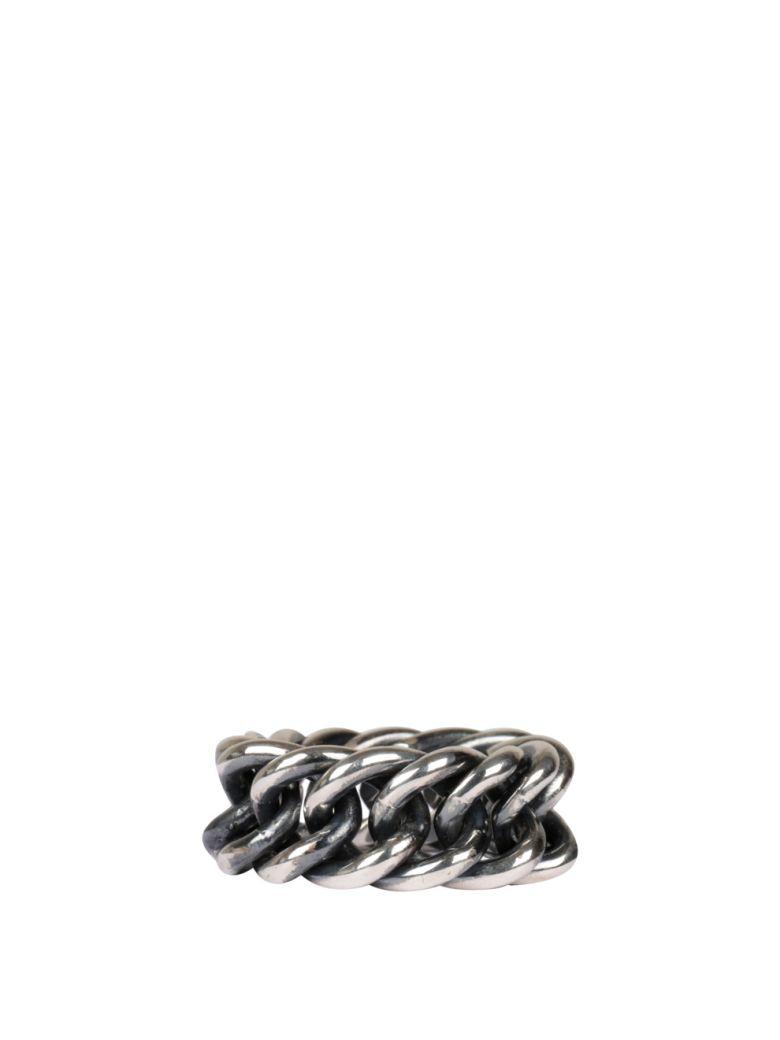 Ugo Cacciatori Fine Chain Silver Ring - ARGENTO