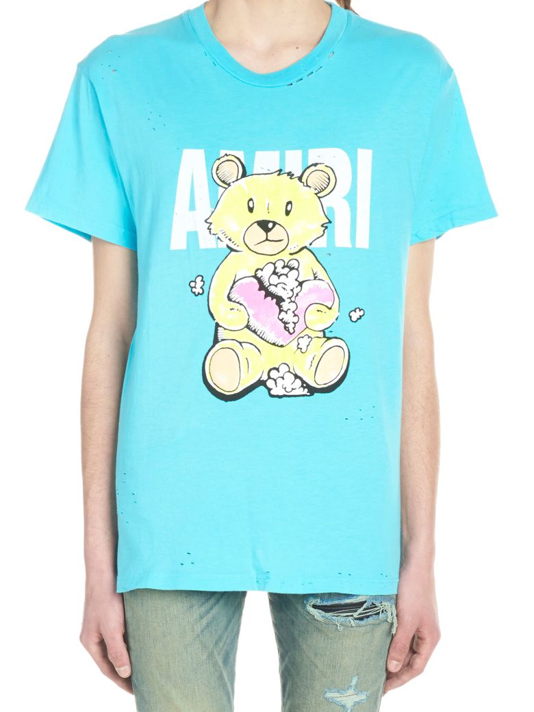 AMIRI 'teddy' T-shirt - Light blue