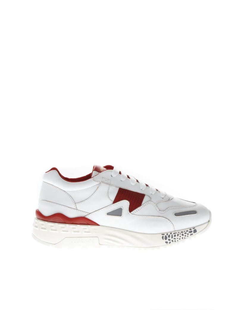 "Versus Versace ""achilles"" Red & White Leather Sneakers - Red/white"