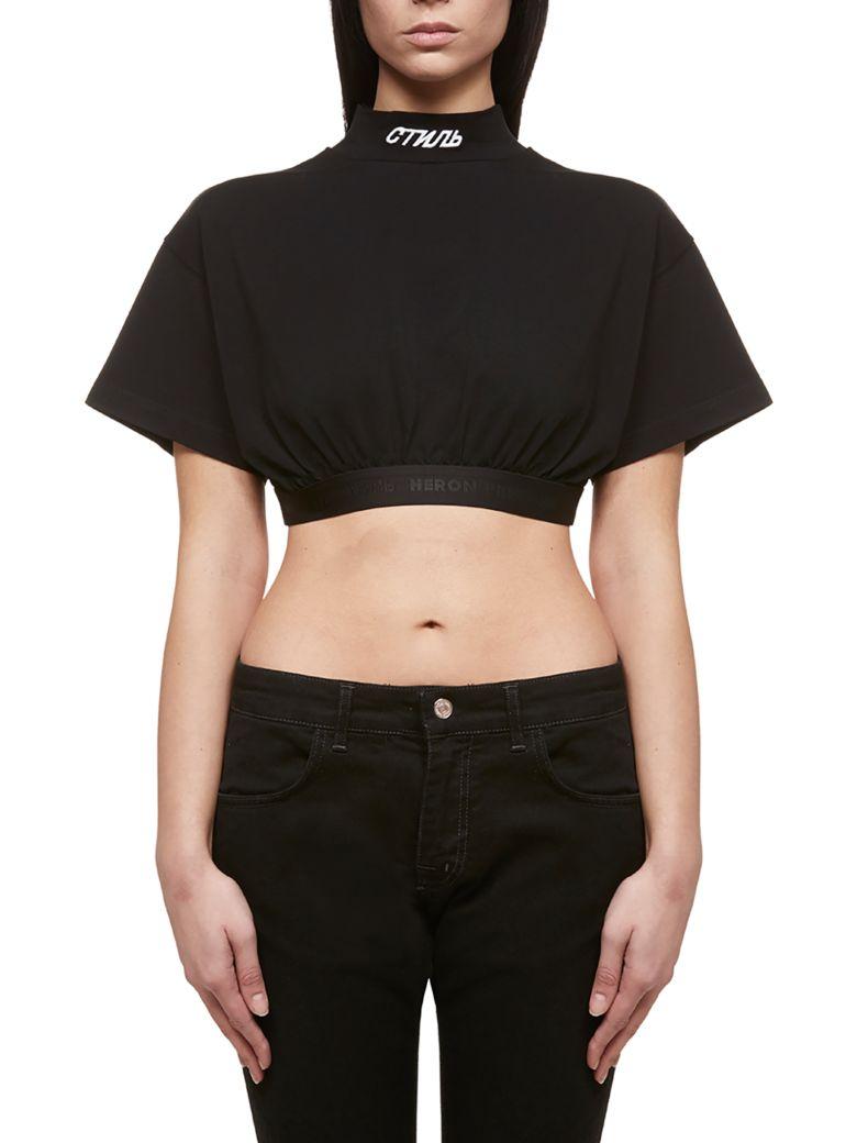 HERON PRESTON Short Sleeve T-Shirt - Nero